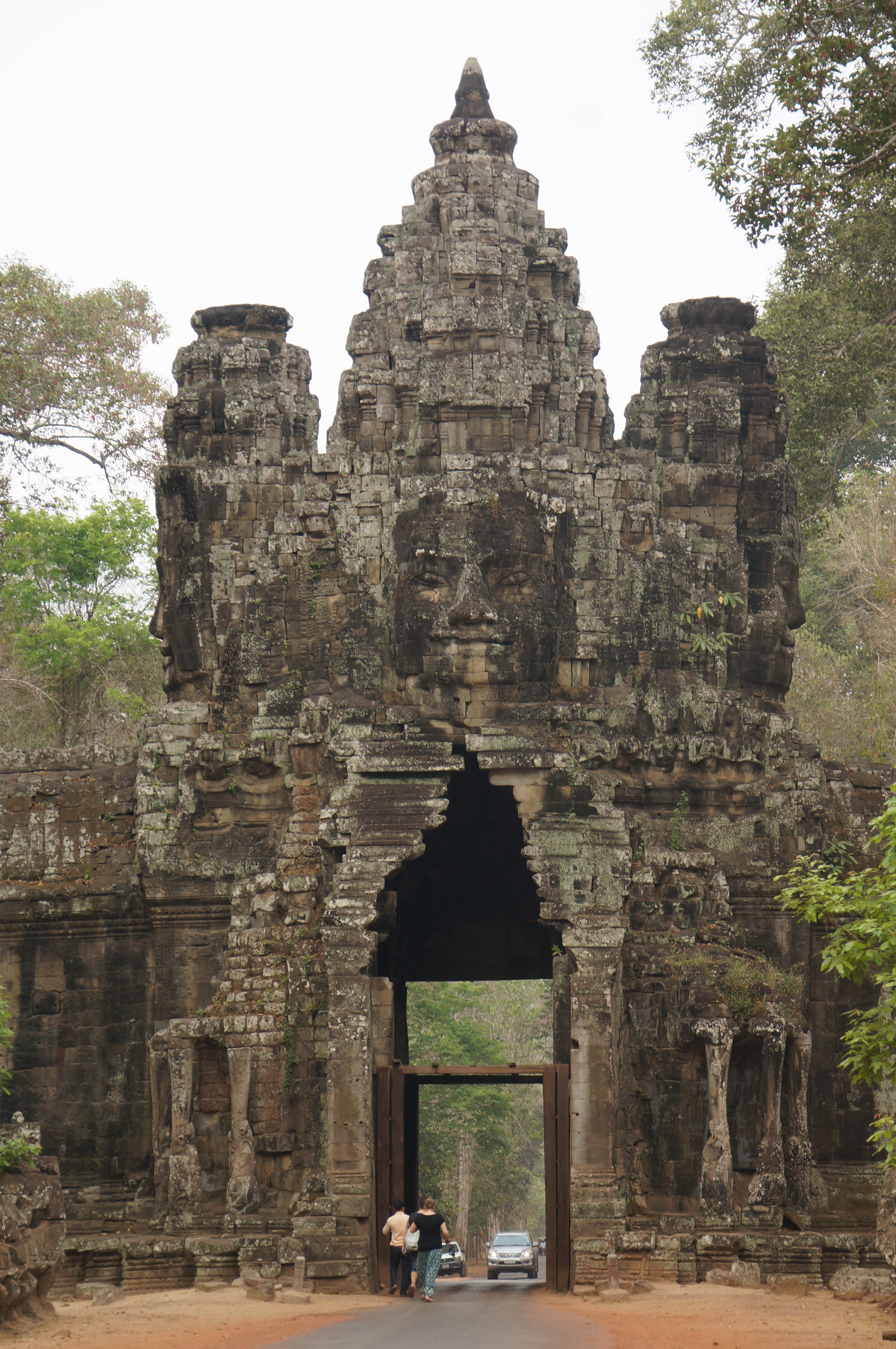 The entrance gate to Angkor Thom. It's only wide enough for a horse or elephant.